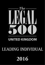 Legal 500 White & Black Leading Individual 2016